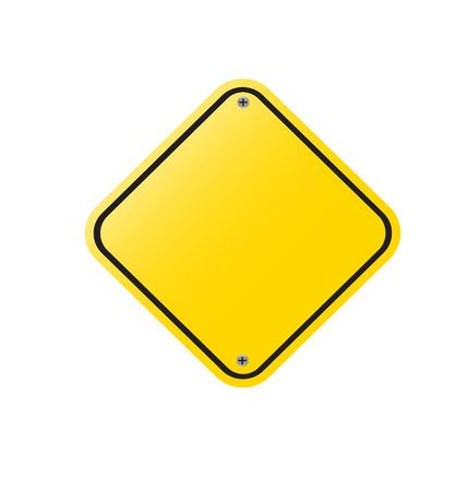 Blank Yellow Sign   - Empty Yellow Symbol isolated set  on white background vector illustation