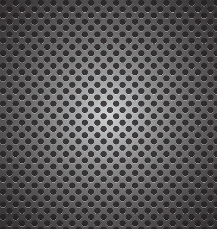 speaker grill: seamless circle perforated carbon speaker grill texture vector illustration Illustration