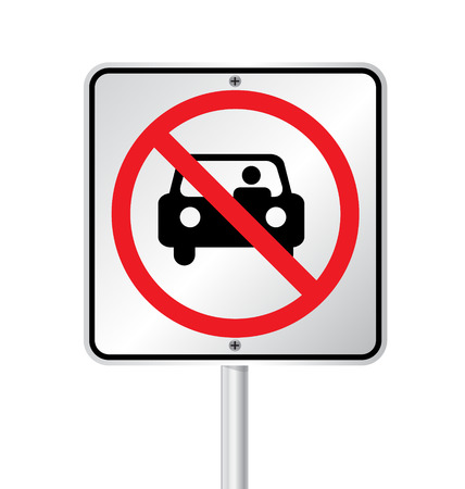 illegal zone:  no parking sign vector illustration  Illustration