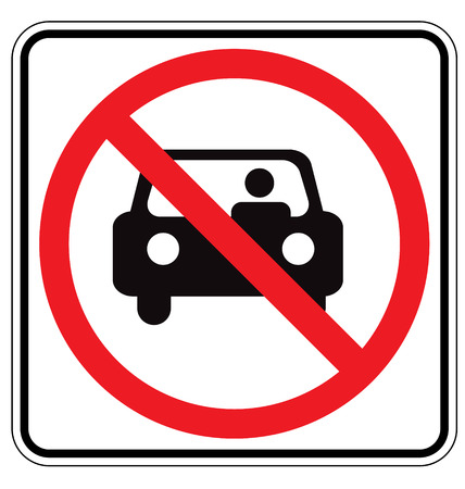 Sign For No Car or No Parking Sign  Vector