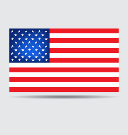American Flag for Independence Day. Vector illustration Vector