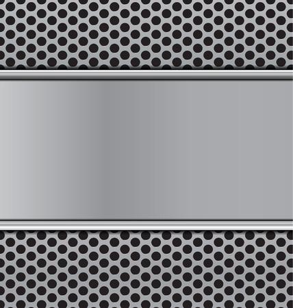 speaker grill: metal texture on black cicrle perforated carbon speaker grill  texture  vector illustration Illustration