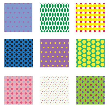 seamless dots patterns Vector
