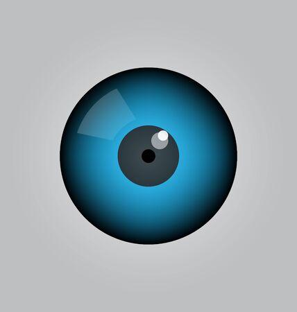 eye ball: bola del ojo del vector