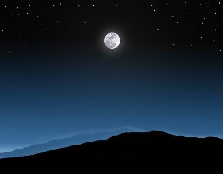 Vollmond-Hintergrund. Vollmond am Nachthimmel mit Sternen Standard-Bild - 43402080