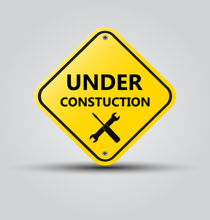 web page under construction: Vector sign under construction