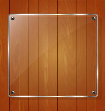wooden texture: Wooden texture with glass framework. Vector illustration