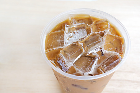 cold: Cold Coffee On Wood