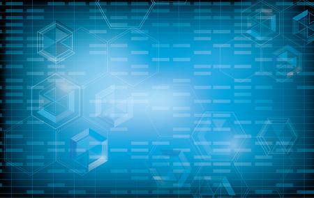 la technologie de fond abstrait bleu design futuriste