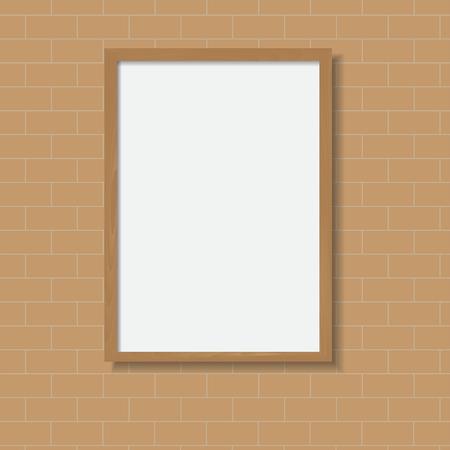 wood frame: Realistic wood frame Vector illustration