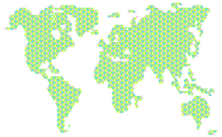 Dotted blank black world map isolated on white background world illustration vector color triangle sign world map vector gumiabroncs Gallery