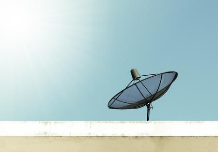 satellite: Antenna communication satellite dish