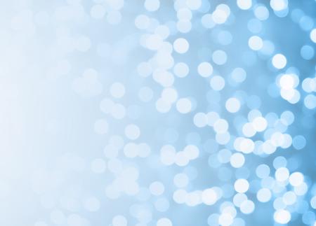 Lumières sur fond bleu