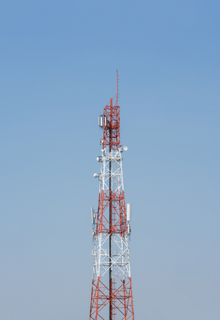 amp tower: Mobile phone signal tower Stock Photo