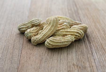 boil: Boil peanut on wooden Stock Photo