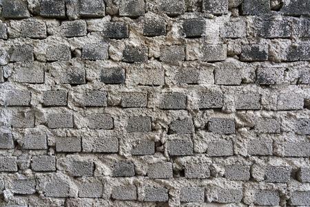 tile cladding: brick wall texture closeup Stock Photo