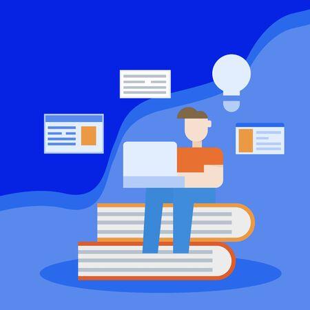 education concept, illustration vector idea  design, 矢量图像