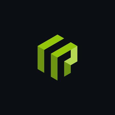 FP logo polygon geometric green