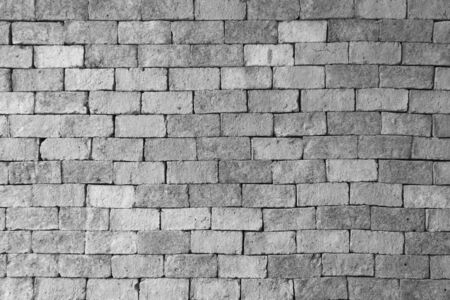 solidity: black white brick wall texture background Stock Photo
