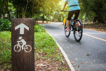 wheel: Bicycle sign, Bicycle Lane in public park