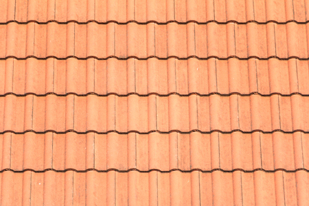 Close up of orange roof texture