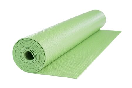 Yoga mat isolated on white background, includes clipping path.