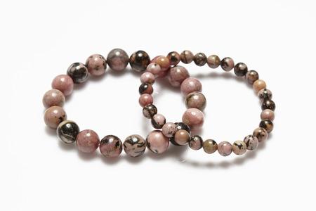 labradorite: Lucky stone bracelet on white background.
