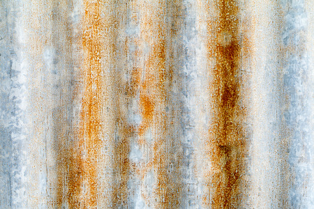 Close up rusty old zinc texture background.