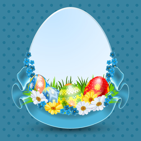 daisy wheel: Easter background for advertising, sale or greeting card Illustration