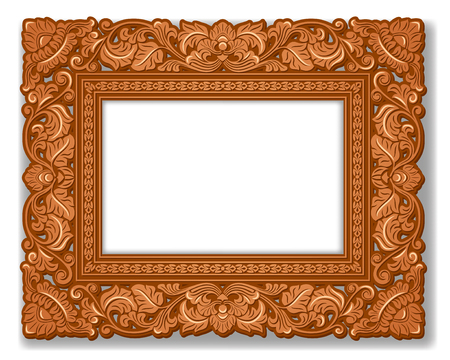 pattern antique: Royal Picture frame, carved wood.