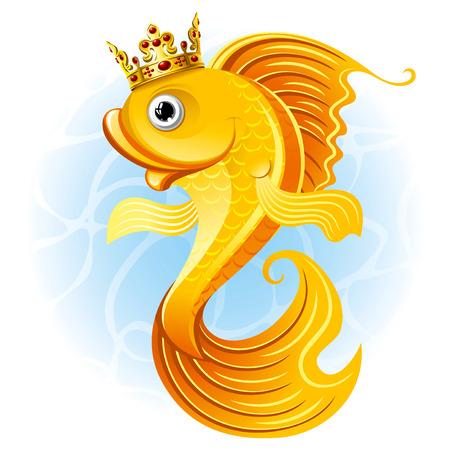 Magic goudvis met een kroon