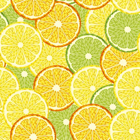 citrus fruit: Seamless background with slices of citrus fruit