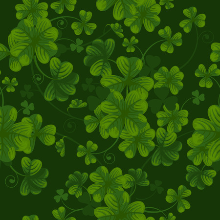 seamless clover: Excellent seamless pattern with clover leaves Illustration