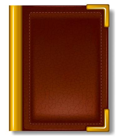 Vecchio libro in copertina in pelle e con decorazioni dorate. Archivio Fotografico - 55003444