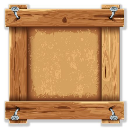Wooden frame with grunge backdrop