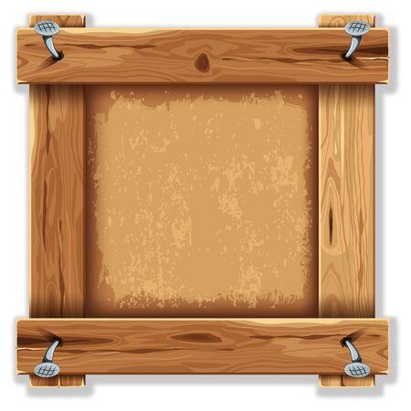 Marco de madera con el grunge telón de fondo Foto de archivo - 55686621