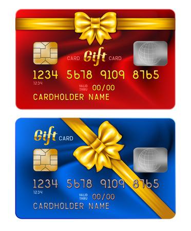 celebratory: Vector illustration of detailed credit card with celebratory design, isolated on white background Illustration