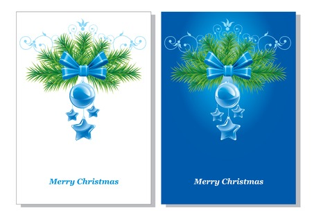 versions: two versions beautiful Christmas background. Vector.