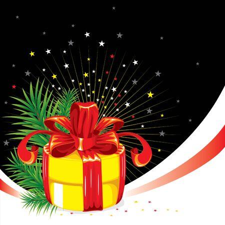 excellent background: excellent background for the Christmas greetings. Vector image. Illustration