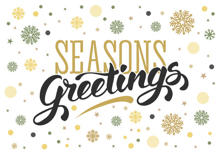 Seasons greetings vintage card for winter holidays hand lettering seasons greetings vintage card for winter holidays hand lettering calligraphic inscription by brush m4hsunfo