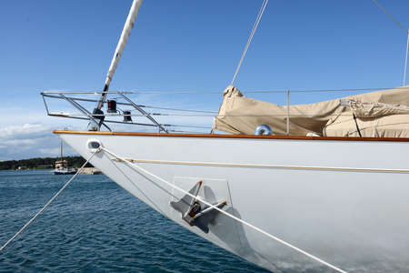 detail of a sailing boat in Croatia Banco de Imagens
