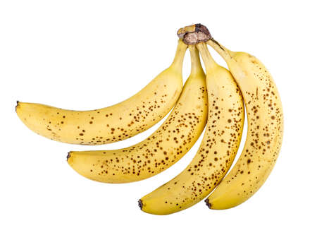 isolated bananas on white background with clipping-path