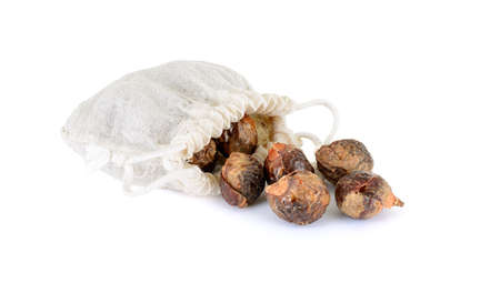 soap nuts with bag Stok Fotoğraf
