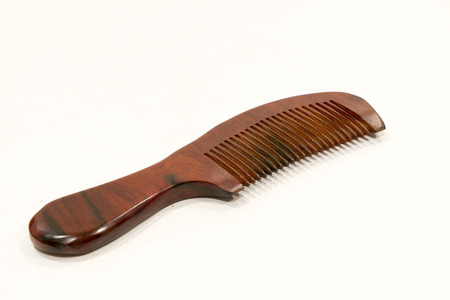 comb: wooden comb Stock Photo
