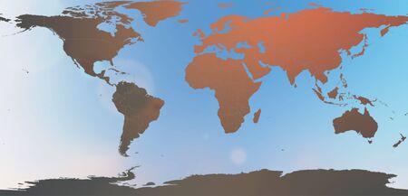 hintergrund himmel: Weltkarte in unscharfen Hintergrund Himmel Zusammenfassung