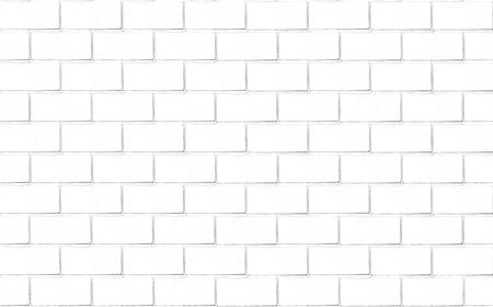 Brick wall background in white tone photo