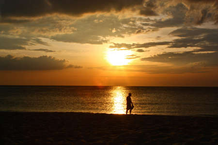 Sunset on the beach in the south of Thailand,click for more Thailand and Asia photo