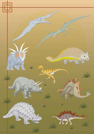 prehistoric age: prehistoric dinosaur drawings