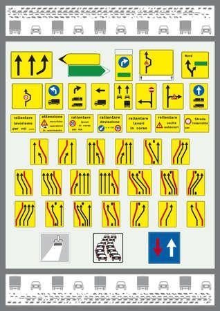 autoscuola: segni italiana strade e autostrade
