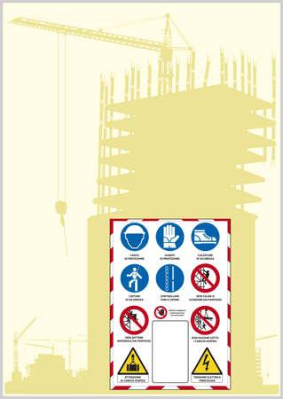 autoscuola: segno sicurezza legge italiana Vettoriali
